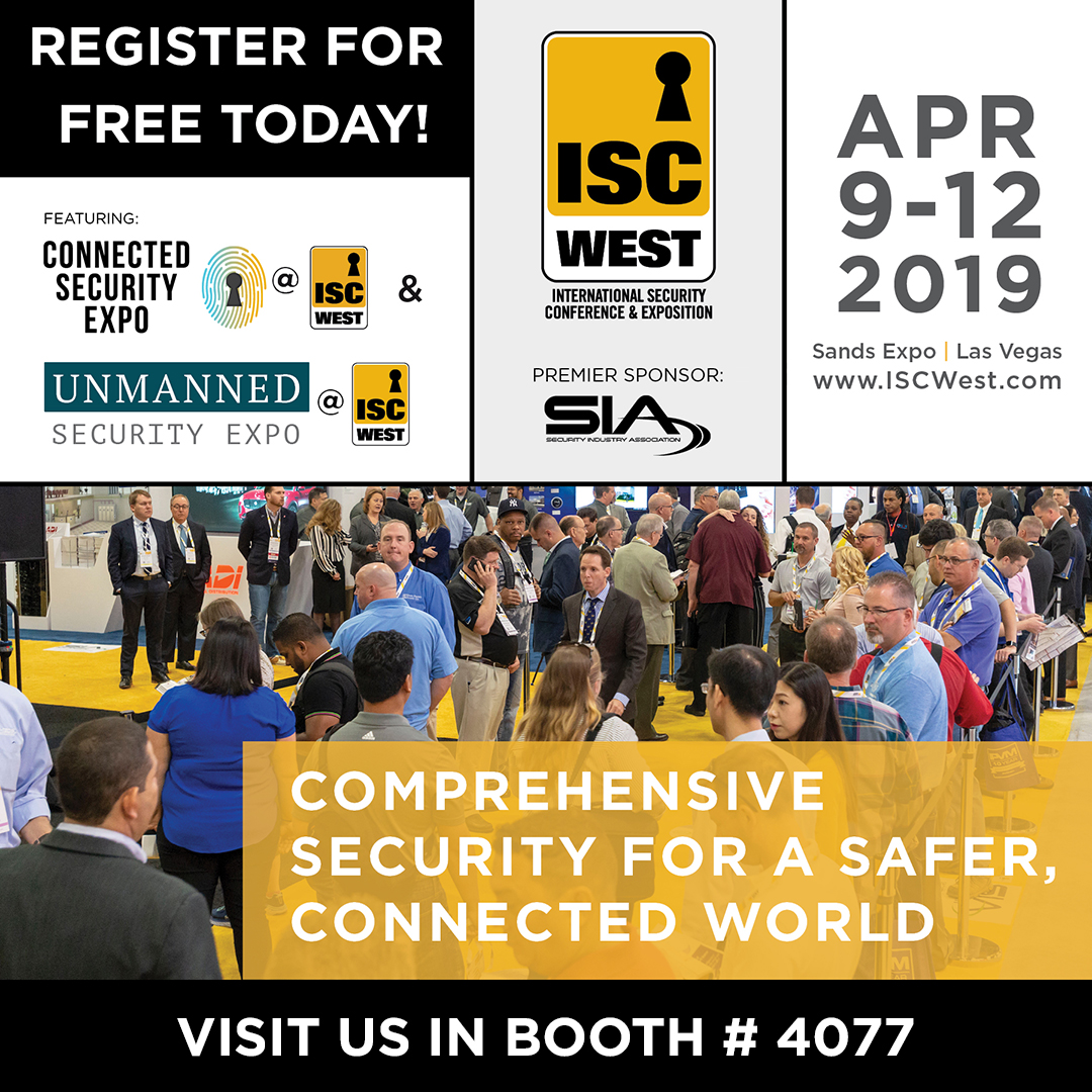 Join Gunnebo at ISC West, April 9-12 2019!
